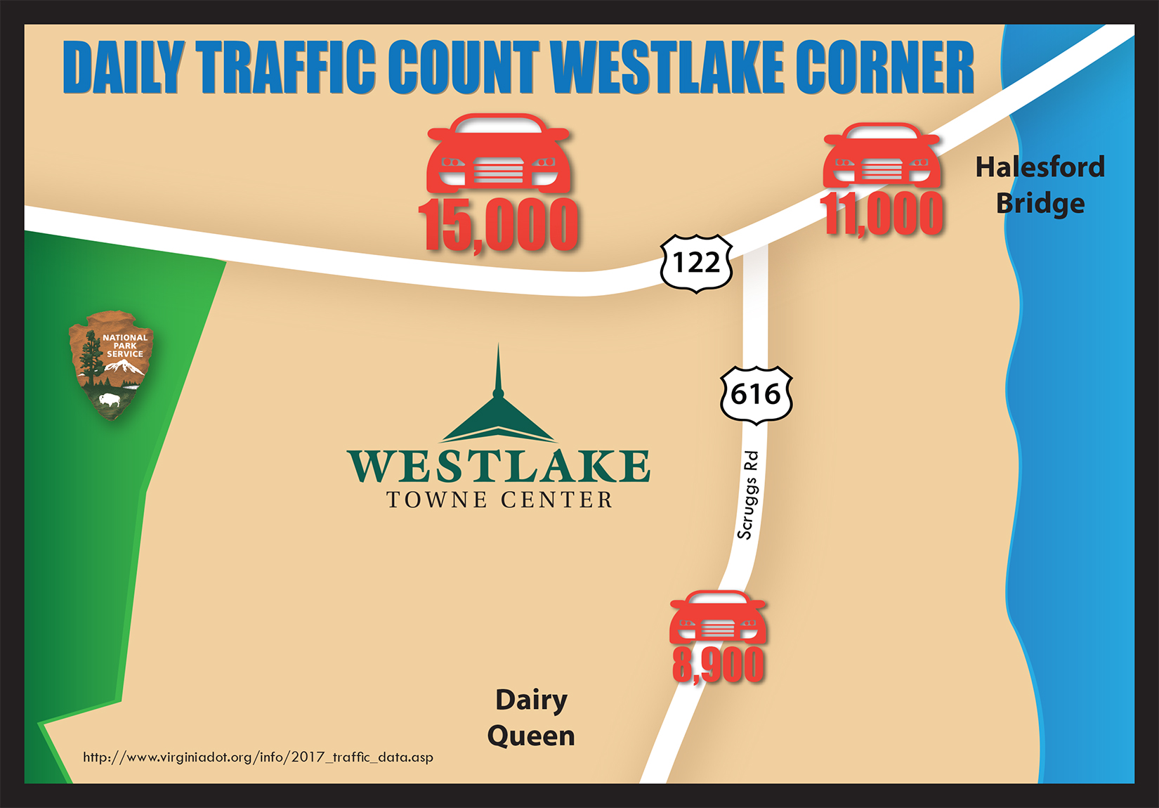 Westlake Towne Center traffic map